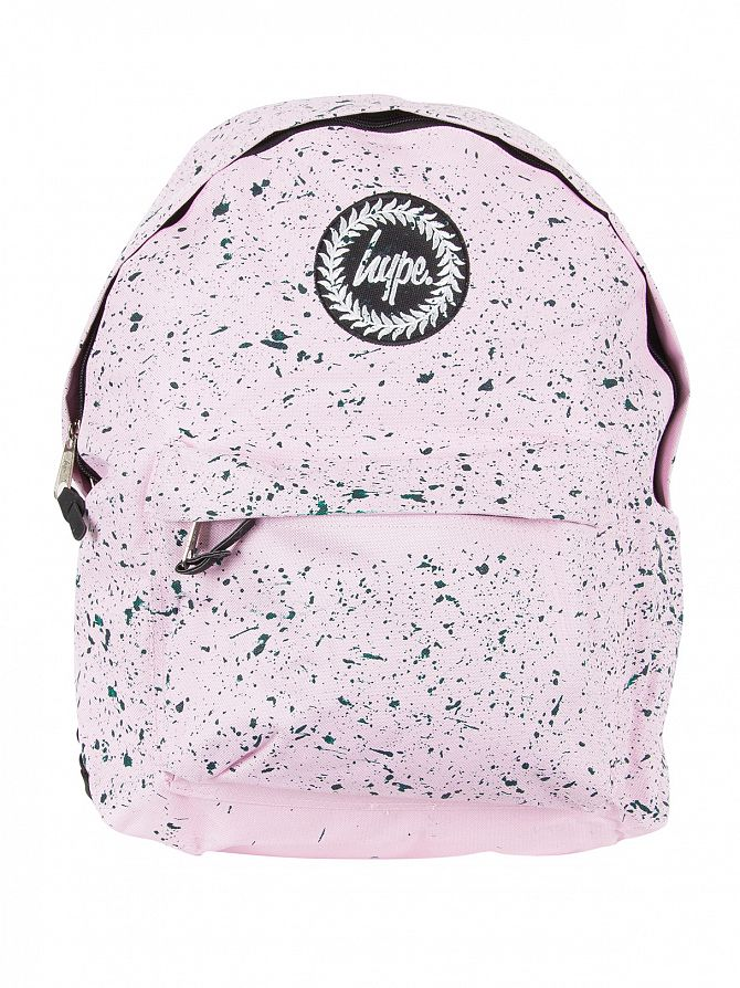 Hype Baby Pink/Emerald Speckle Logo Backpack
