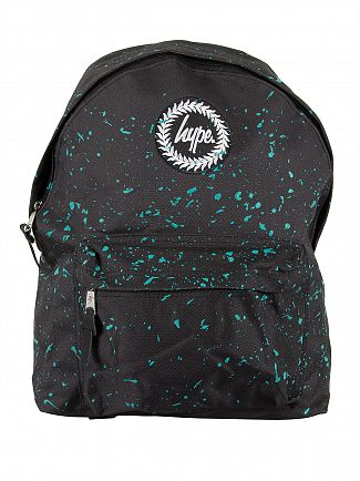 Hype Black/Mint Speckle Logo Backpack