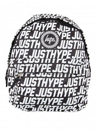 Hype Black/White Sporting Justhype All Over Logo Backpack