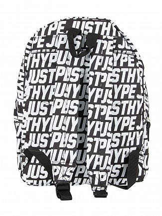 Hype Black/White Sporting Justhype All Over Logo Backpack