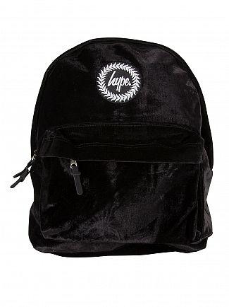 Hype Black Velour Logo Backpack