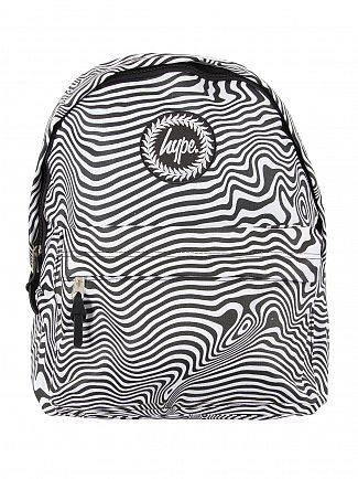 Hype Black/White Zebra Warp Logo Backpack