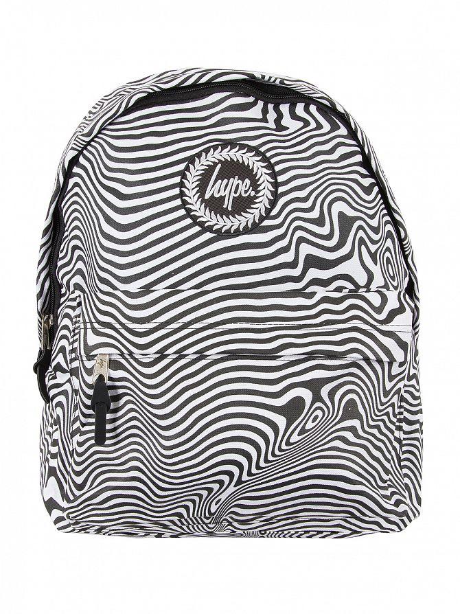 Hype Black/White Zebra Warp Logo Backpack