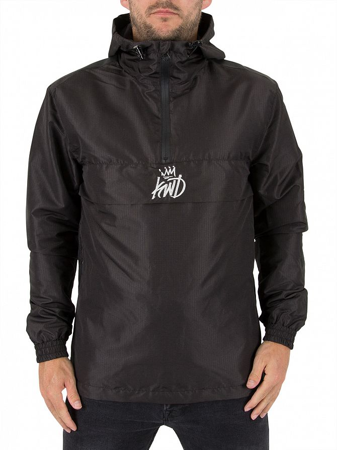 Kings Will Dream Black Briset Zip Logo Windbreaker