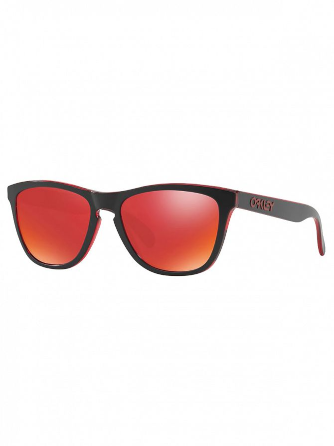 Oakley Red/Torch Iridium Frogskins Injected Sunglasses