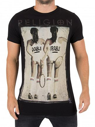 Religion Black Double Trouble Graphic T-Shirt