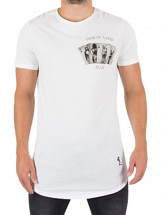 Religion White Four Of A Kind Logo T-Shirt