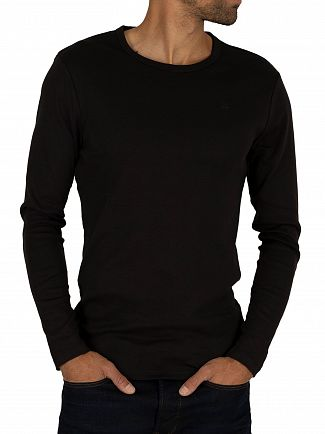 G-Star Black Longsleeved Crew Logo T-shirt
