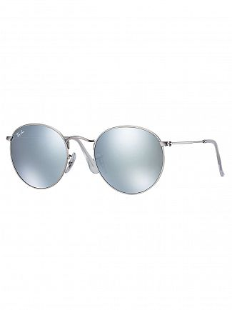 Ray-Ban Silver Round Flash Sunglasses