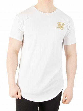Sik Silk White/Gold Edit Logo T-shirt