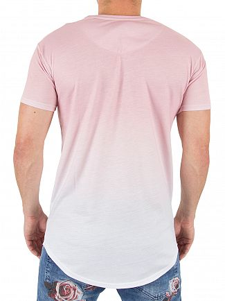 Sik Silk Peach Skin Faded Logo T-shirt