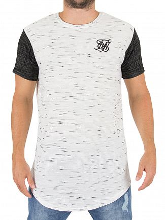 Sik Silk White/Black Inject Waffle Contrast Logo T-shirt