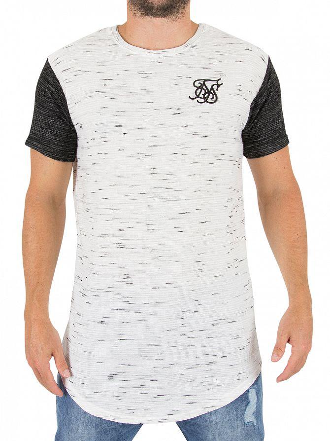 Sik Silk White/Black Inject Waffle Contrast Logo T-shirt