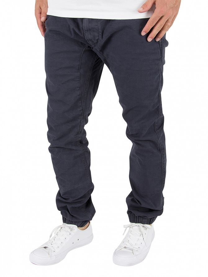 Superdry Downtown Navy Surplus Goods Low Rider Trousers