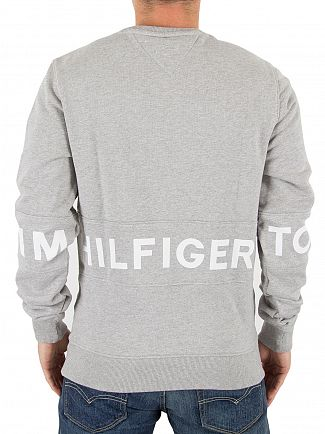 Tommy Hilfiger Denim Light Grey Heather Crew Neck Sweatshirt