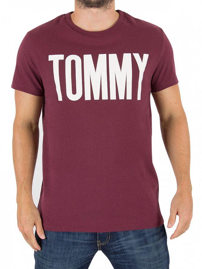 Tommy Hilfiger Denim Windsor Wine Crew Neck T-shirt