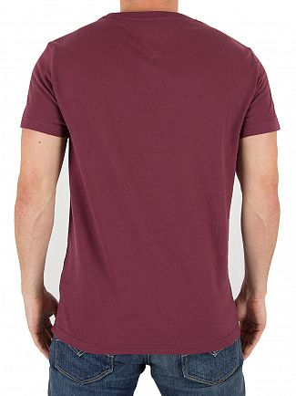 Tommy Hilfiger Denim Windsor Wine Crew Neck T-shirt