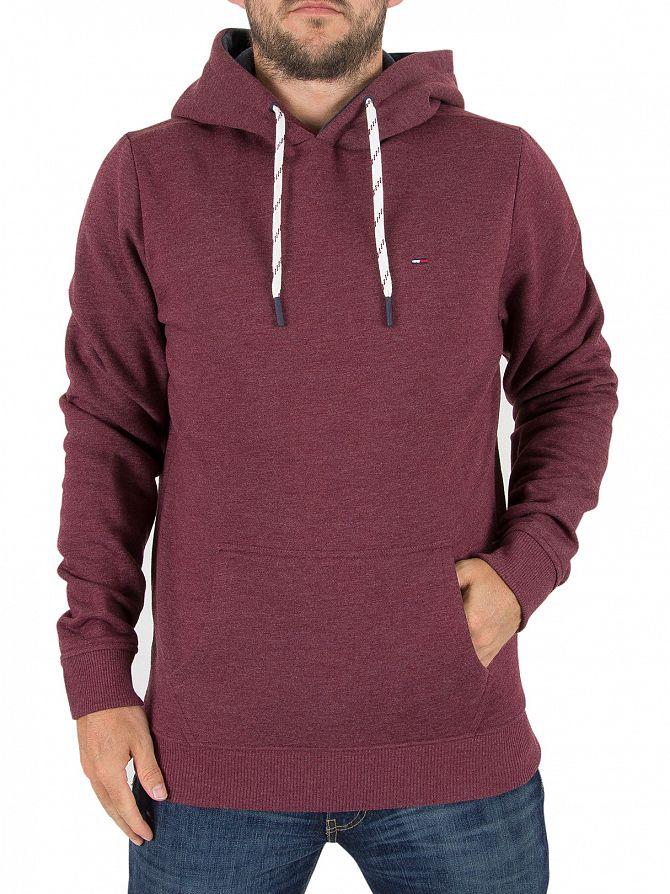 Tommy Hilfiger Denim Windsor Wine Pullover Logo Hoodie