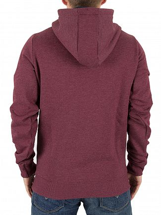 Tommy Hilfiger Denim Windsor Wine Pullover Logo Hoodie