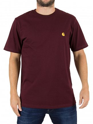 Carhartt WIP Amarone/Gold Chase Logo T-Shirt