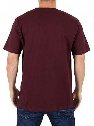 Carhartt WIP Amarone/Gold Chase Logo T-Shirt