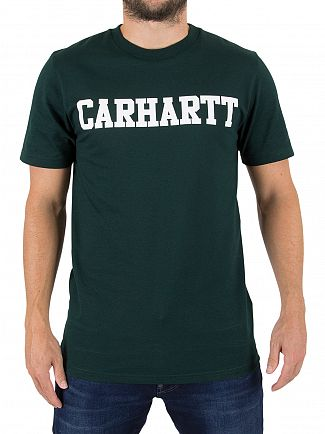 Carhartt Wip Parsley/White College Logo T-Shirt