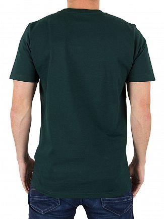 Carhartt WIP Parsley/White College Logo T-Shirt