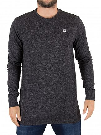 G-Star Black Heather Classic Longsleeved Logo T-Shirt