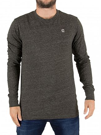 G-Star Asfalt Heather Classic Longsleeved Logo T-Shirt