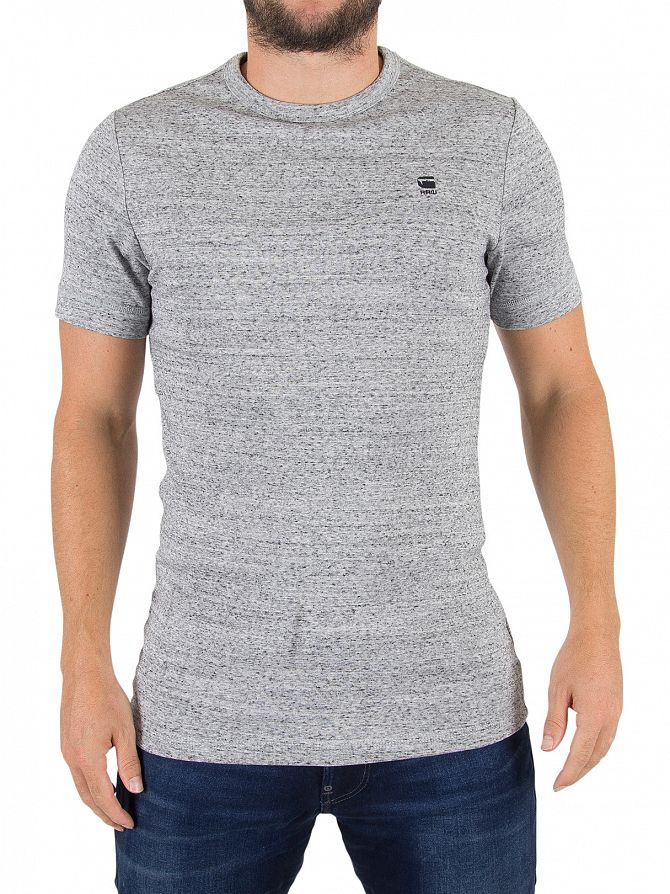 G-Star Correct Grey Heather Unstand Logo T-Shirt