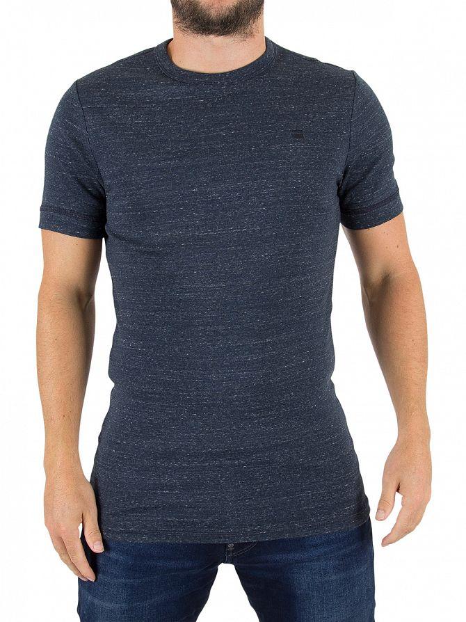 G-Star Mazarine Blue Unstand Logo T-Shirt