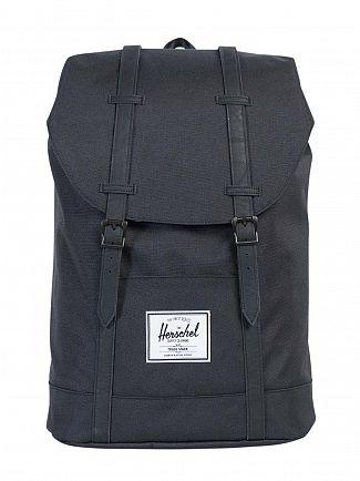 Herschel Supply Co Black/Black Retreat Straps Backpack