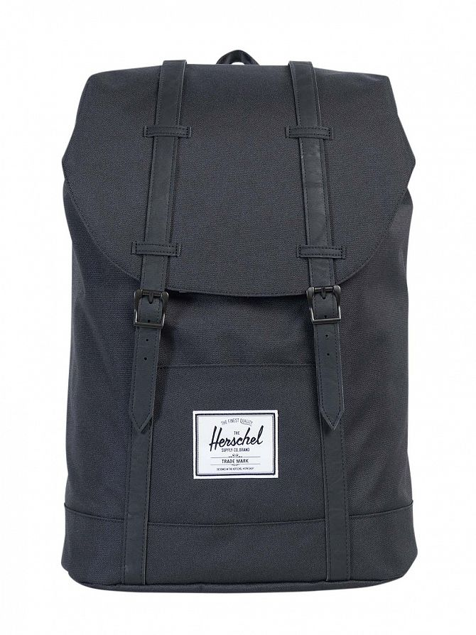 Herschel Supply Co Black/Black Retreat Straps Backpack