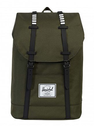 Herschel Supply Co Forest/Black Retreat Straps Backpack