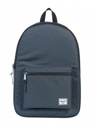 Herschel Supply Co Dark Shadow/Black Settlement Logo Backpack