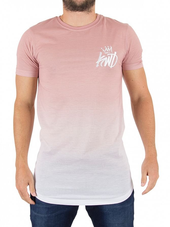 Kings Will Dream Pink Ombre Surry Fade Logo T-Shirt