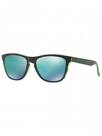 Oakley Eclipse Green/Jade Iridium Frogskins Injected Sunglasses
