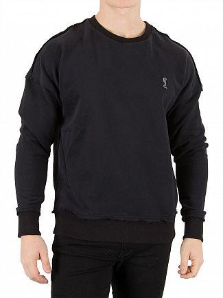 Religion Jet Black Climax Drop Shoulder Sweatshirt