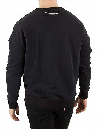 Religion Jet Black Climax Drop Shoulder Sweatshirt