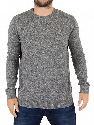 Tommy Hilfiger Denim Dark Grey Heather Logo Knit