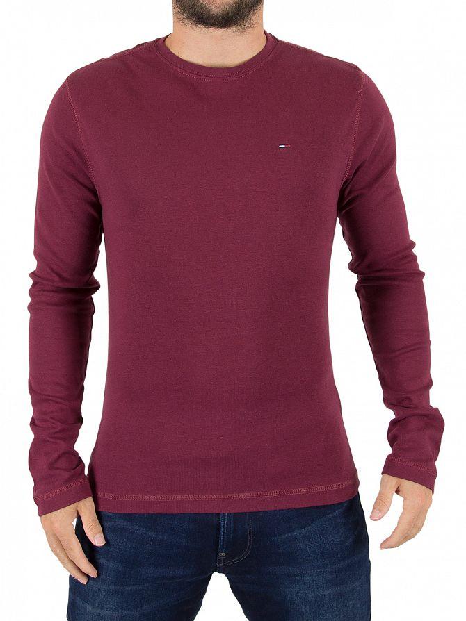 Tommy Hilfiger Denim Windsor Wine Original Longsleeved Logo T-Shirt
