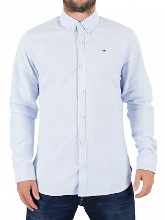Tommy Hilfiger Denim Light Blue Solid Logo Shirt