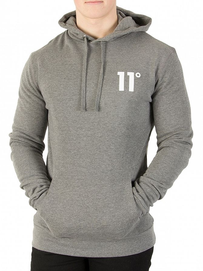 11 Degrees Charcoal Core Logo Hoodie