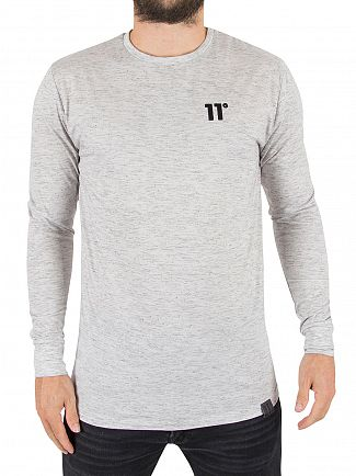 11 Degrees Shadow Longsleeved Composite Marled Logo T-Shirt
