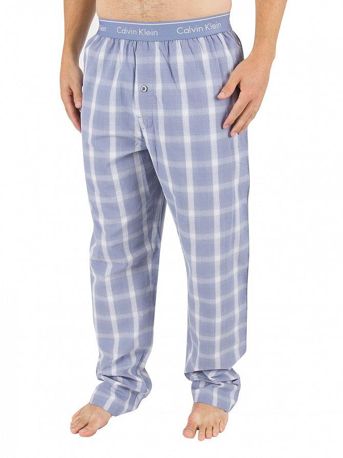 Calvin Klein Infinity Blue Lang Plaid Logo Pyjama Bottoms