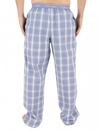 Calvin Klein Infinity Blue Lang Plaid Logo Pyjama Bottoms