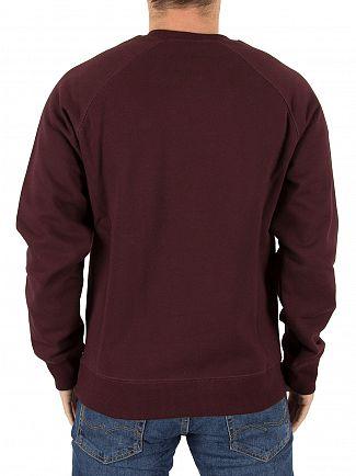 Carhartt WIP Damson/Gold Chase Sweatshirt