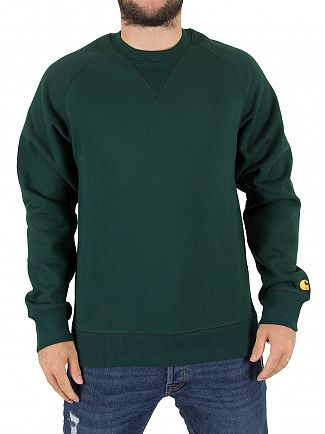 Carhartt WIP Parsley/Gold Chase Sweatshirt