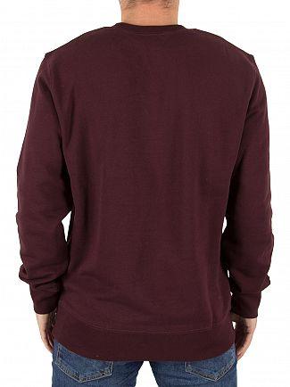 Carhartt WIP Damson/White College Script Logo Sweatshirt