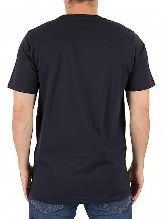 Carhartt WIP Dark Navy/White College Script Logo T-Shirt